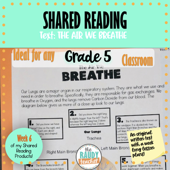 Shared Reading Lesson Bundle Week 3 (Grade 5 Ontario Curriculum Aligned)