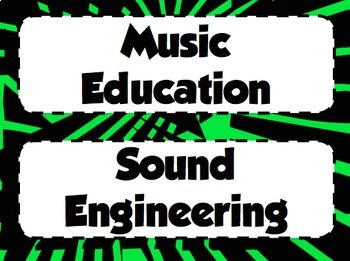 Our Musical World – Careers in Music Bulletin Board