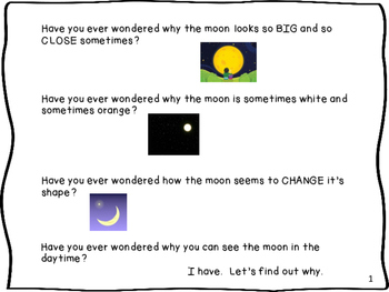 The Moon - Phases of the Moon - 2nd, 3rd grade