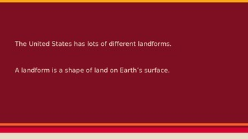 """Our Nation"" Introduction, Lesson 1: America's Land-Presentation"