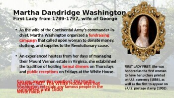 Our Nation's First Ladies - a PowerPoint overview of remarkable women