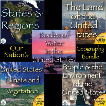 Our Nation's Geography Interactive Notebook Bundle