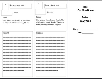Our New Home Reader's Theater Trifold Benchmark Literacy