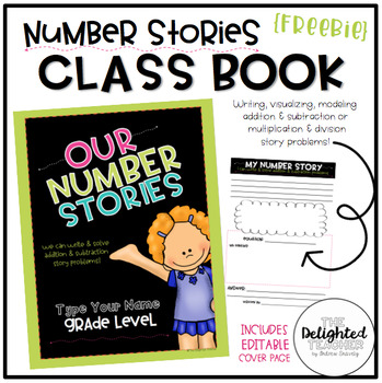 Our Number Stories {Class Book} with EDITABLE Cover Page