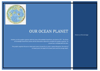 Our Ocean Planet - Ocean of Knowledge Graphic Organiser