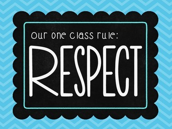 Our One and Only Class Rule (s) in Bright Rainbow Chalkboards