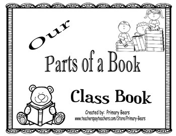 Our Parts of a Book Class Book