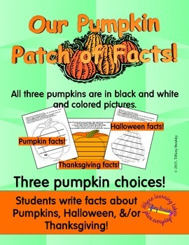 Our Patch of Pumpkin Facts Social Studies and Writing Bulletin Project