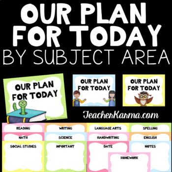 Standards / Objectives Organizer ~ By Subject ~ Classroom Organized