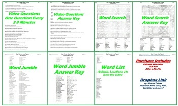 image relating to Printable Word Jumble named Our Globe: Just one Globe Netflix Online video Issues, Worksheet, Term Glance  Jumble