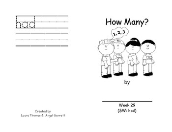 How Many? - Sight Word Book Week 31