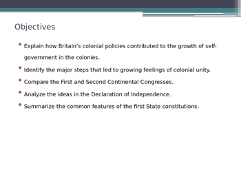 Our Political Beginnings U.S. American Government - from McGruder Ch 2 Sec 1