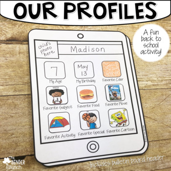 Our Profiles! {A Get-to-Know-You BTS Bulletin Board Activity}