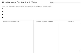 Our Rules.  How We Want Our Art Studio To Be Conversation Guide