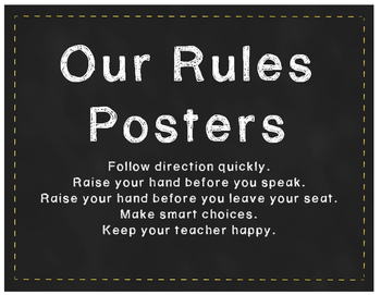 Our Rules Posters