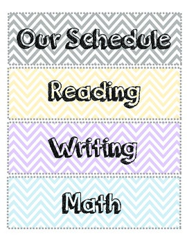 Our Schedule Display-Chevron