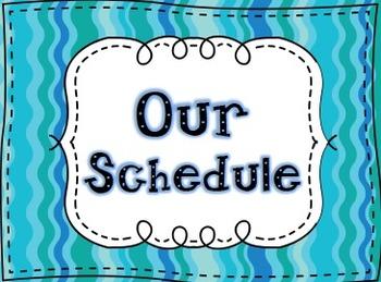 Our Schedule-FREEBIE