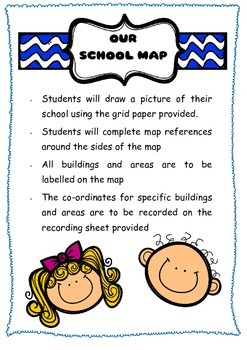 Our School Map - Location and Mapping skills using Grid references