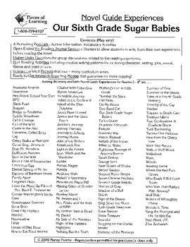 Our Sixth Grade Sugar Babies Literature Guide
