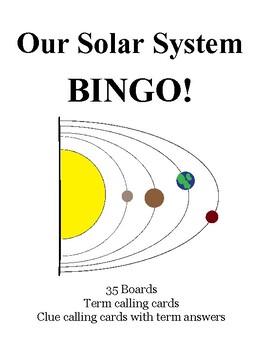 Our Solar System BINGO!