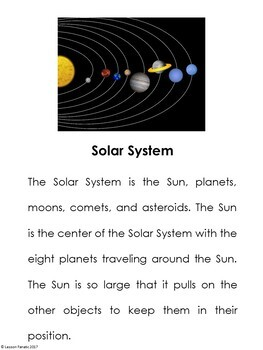 Our Solar System Brochure Activity