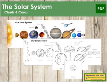 Our Solar System: Charts and Cards