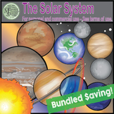 Our Solar System Clip Art (A Planets & Sun COMBO Set) {Mes