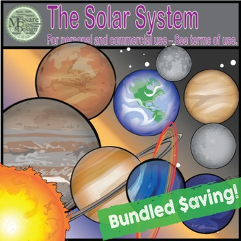 Our Solar System Clip Art (A Planets & Sun COMBO Set) {Mes
