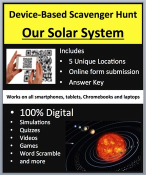 Our Solar System - Device-Based Scavenger Hunt Activity -