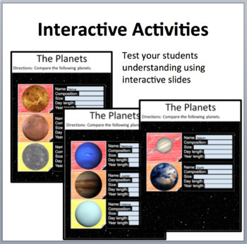 Our Solar System - Digital Interactive Notebook Pages