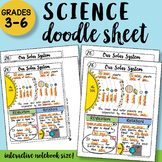 Our Solar System Doodle Sheet - SO Easy to Use! PPT Included