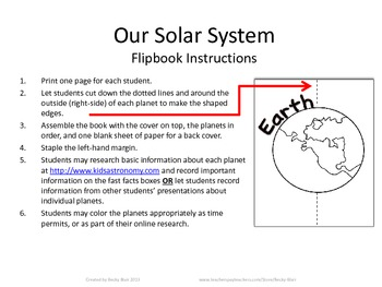 Our Solar System Flipbook