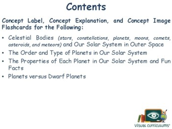 Our Solar System Lesson & Flashcards - task cards, study guide, exam prep