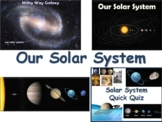 Our Solar System Lesson & Flashcards task cards study guide exam prep 2018 2019