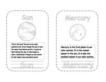Our Solar System Mini Book