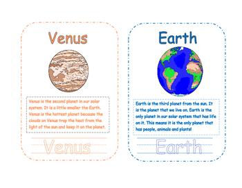 Our Solar System Mini Book Full Color