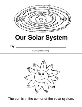 Our Solar System Printable Book