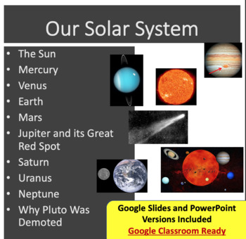 Our Solar System - Lesson Package and Assignment - Google Slides and PowerPoint