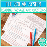 Reading Comprehension Passage and Questions: Our Solar System