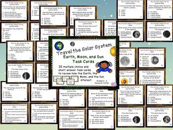 Our Solar System Task Card Bundle