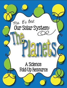 Our Solar System:  'The Planets' Science Fold-Up Resource