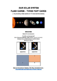 Our Solar System - Three part cards - Montessori Inspired
