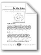 Our Solar System (Topic Sentence/Supporting Details)