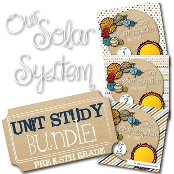 Solar System Unit Study Multi-Grade Bundle