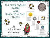 Our Solar System and Fun Planet Fact Sheets