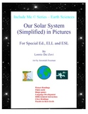 Our Solar System (Simplified) in Pictures for Special Ed.,and ESL