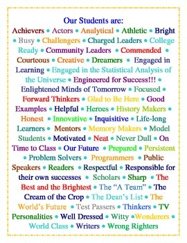 Our Students Are...