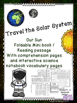 Our Sun Foldable Minibook and Comprehension sheets
