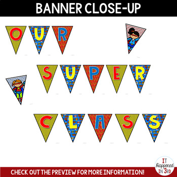 Our Super Class: Superhero Banner and Writing Activity!