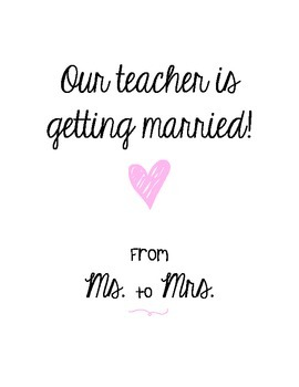 Our Teacher is Getting Married - Booklet